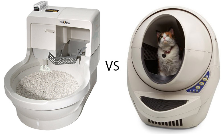 A comparison between the Cat Genie and the Litter Robot.