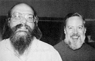 Ken and Dennis, creators of UNIX.