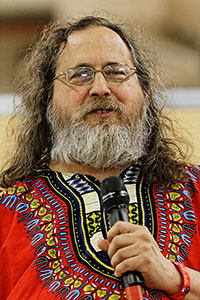 Richard Stallman, proponent of software freedom.