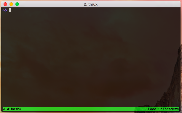 Starting tmux for the first time, you're put into a window with ID 0.