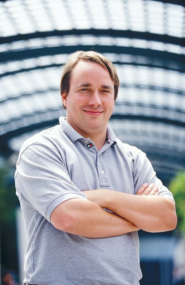 Linus Torvalds, the creator of the Linux kernel.