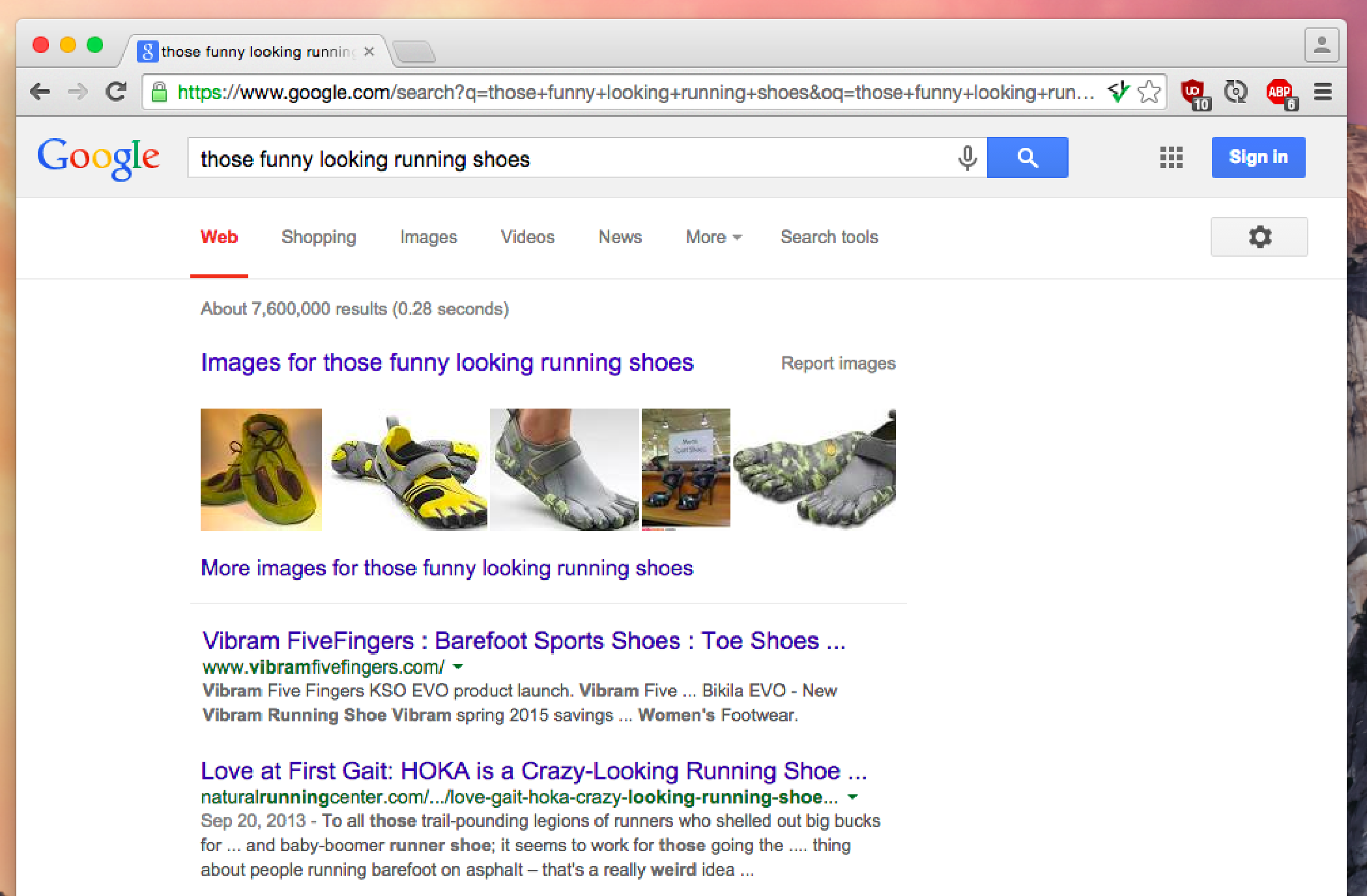 Funny looking running shoes Google search
