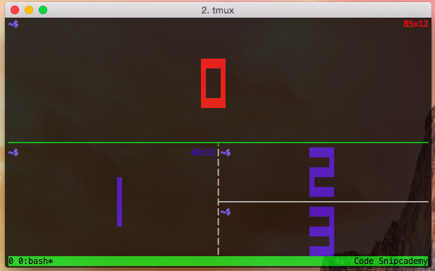 Showing pane numbers on tmux.
