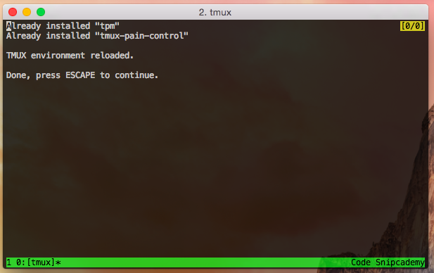 Installing plugins in tmux.